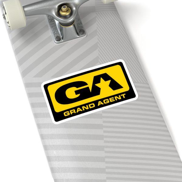 Grand Agent Sticker on bottom of Skateboard